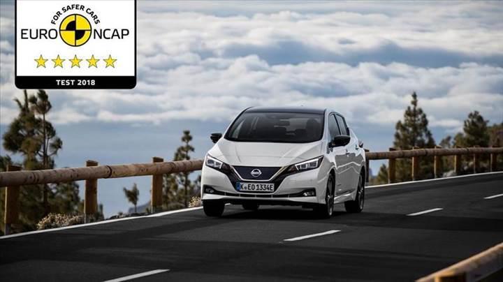 Nissan Leaf, yeni kriterlere göre EuroNCAP'ten 5 yıldız alan ilk elektrikli otomobil oldu