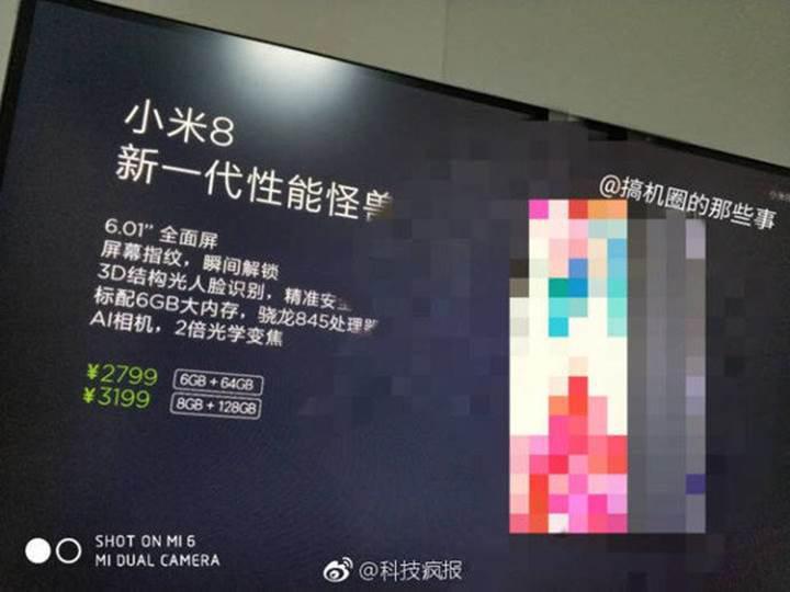 Xiaomi Mi 8 fiyatı ve varyantları sızdırıldı