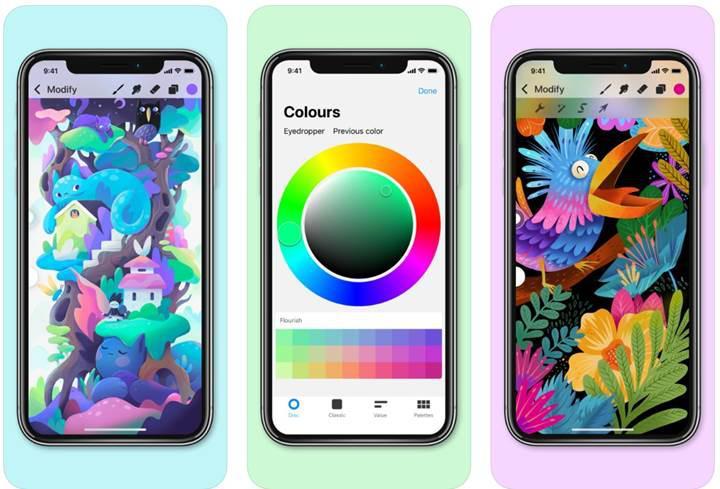 iOS tarafının beğenilen çizim uygulaması Procreate Pocket güncellendi