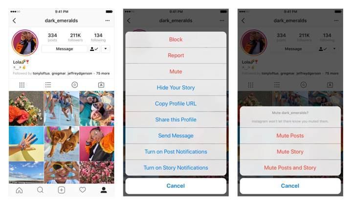 Instagram uygulamasına 'Sessize Al' özelliği geldi