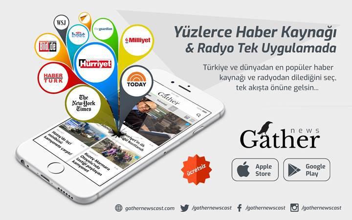 Gather ile yüzlerce haber kaynağı ve radyoyu tek uygulamadan takip edin