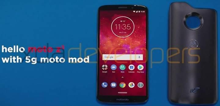 Moto Z3 Play ve 5G Moto Mod'un görselleri ortaya çıktı