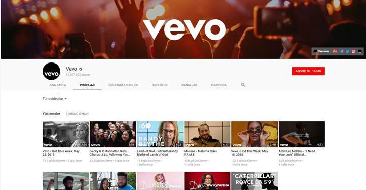 Vevo, Youtube'a odaklanmak için Android ve iOS uygulamalarını kapatıyor