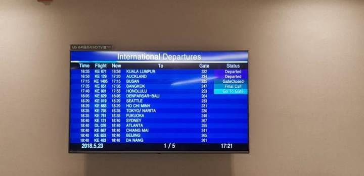 İz problemini çözemeyen LG, Incheon havalimanındaki OLED TV'leri değiştiriyor