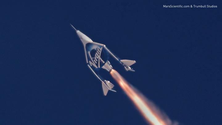 Virgin Galactic'in süpersonik uzay aracı ikinci test uçuşunu tamamladı