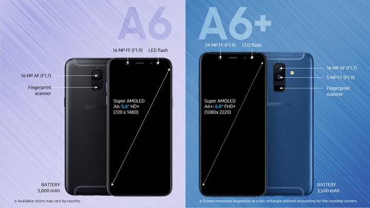 Galaxy A6 ve A6+ satışa çıktı, fiyatları üzdü