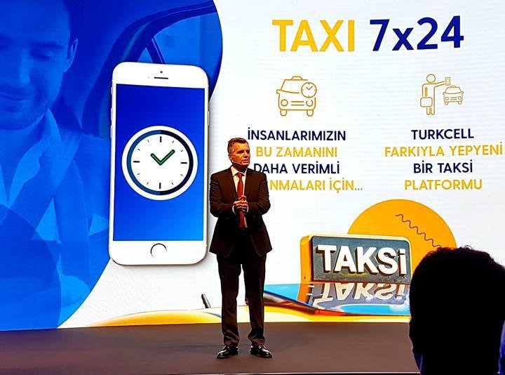 Turkcell, taksi uygulaması Taxi 7x24'ü tanıttı