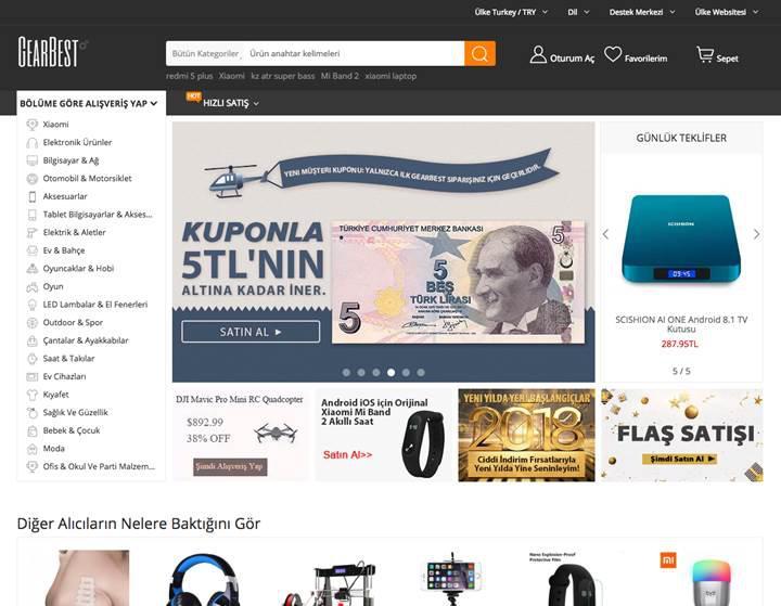 Gearbest resmen Türkiye pazarına giriş yaptı