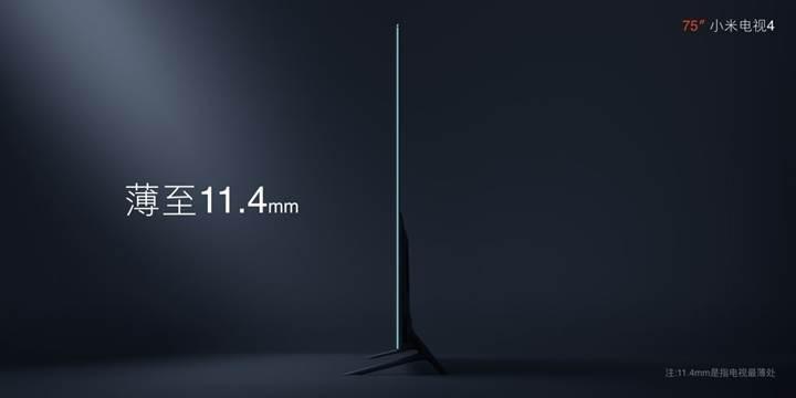 Xiaomi, sadece 11.4 mm kalınlığında 75 inçlik Mi TV 4'ü duyurdu