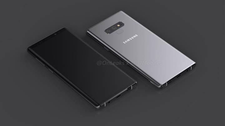 Samsung Galaxy Note 9'un render görselleri ve videosu sızdırıldı