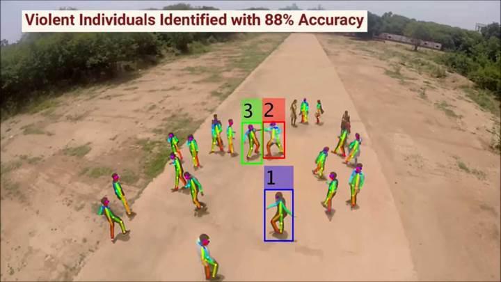 Şiddet olaylarını takip eden yapay zeka destekli drone geliştirildi