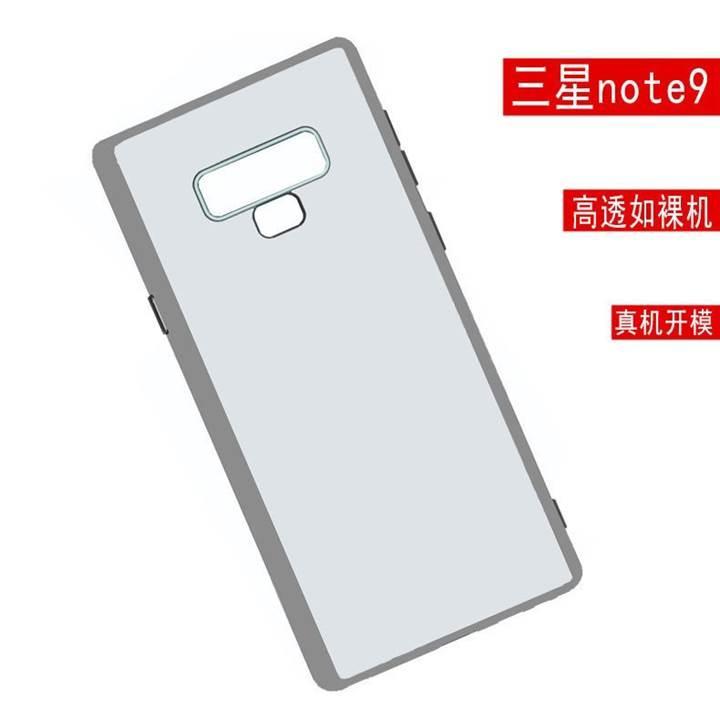 Galaxy Note 9'un kılıfı parmak izi okuyucunun konumunu ve gizemli bir düğmeyi gösteriyor