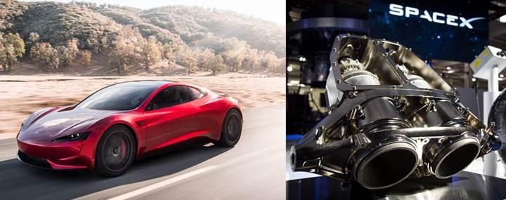 Elon Musk, Tesla Roadster'a küçük roketler yerleştirecek