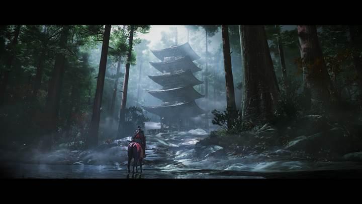 Açık dünya samuray macera oyunu Ghost of Tsushima'nın oynanış videosu