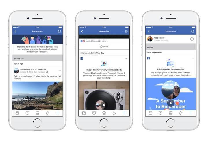 Facebook, yeni Anılar özelliği ile tüm hatıralarınızı tek bir yere taşıyor