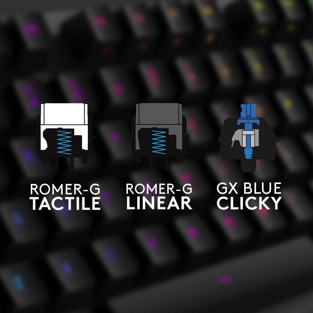 Logitech G512 klavye ve yeni mekanik tuş seçeneği GX Blue tanıtıldı