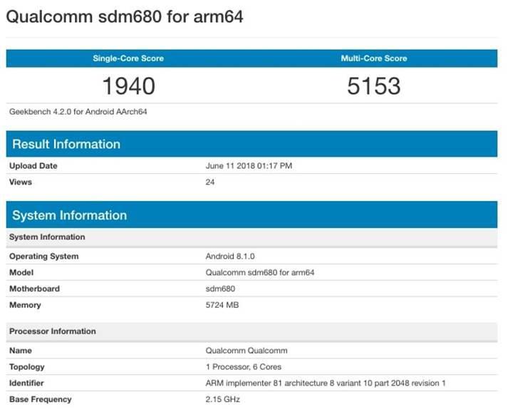 Qualcomm Snapdragon 680'in Geekbench sonuçları ortaya çıktı