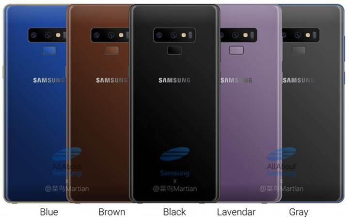 Galaxy Note 9 yeni renk seçenekleriyle birlikte görüntülendi