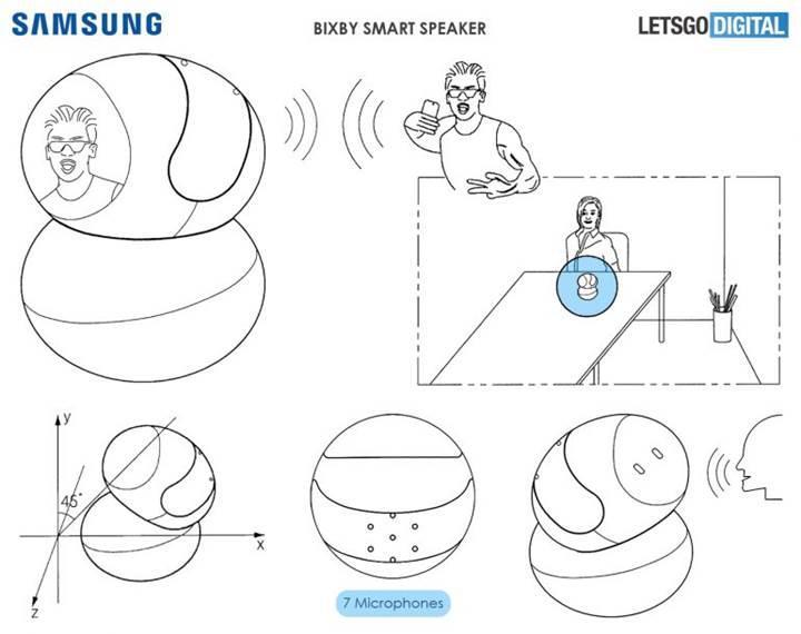 Samsung'un Bixby akıllı hoparlörü, sesin geldiği yöne bakarak konuşan kişiyi tanıyabilecek