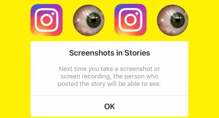 Stalkerlar müjde! Instagram ekran görüntüsü bildirimleri göndermekten vazgeçti