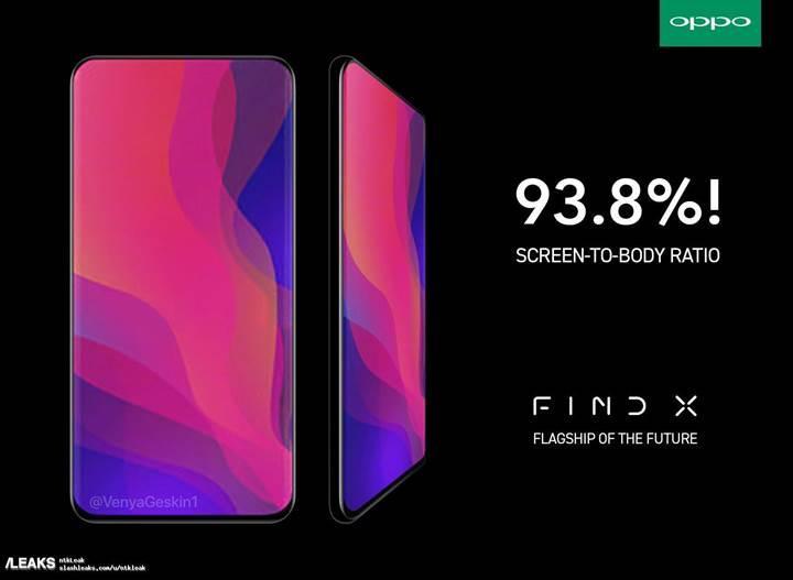 Oppo'nun %93.8 ekran-gövde oranına sahip telefonu Find X videoda göründü