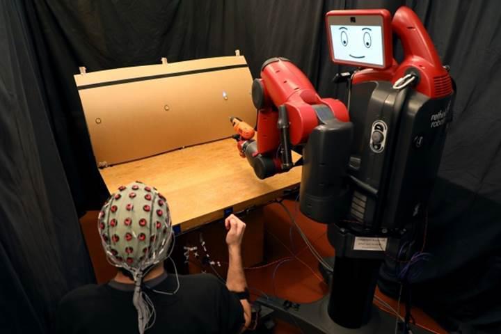 Beyin sinyalleri ve el hareketleri ile robotları kontrol eden sistem