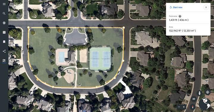 Google Earth'e uzaklık ve alan hesaplama aracı geldi