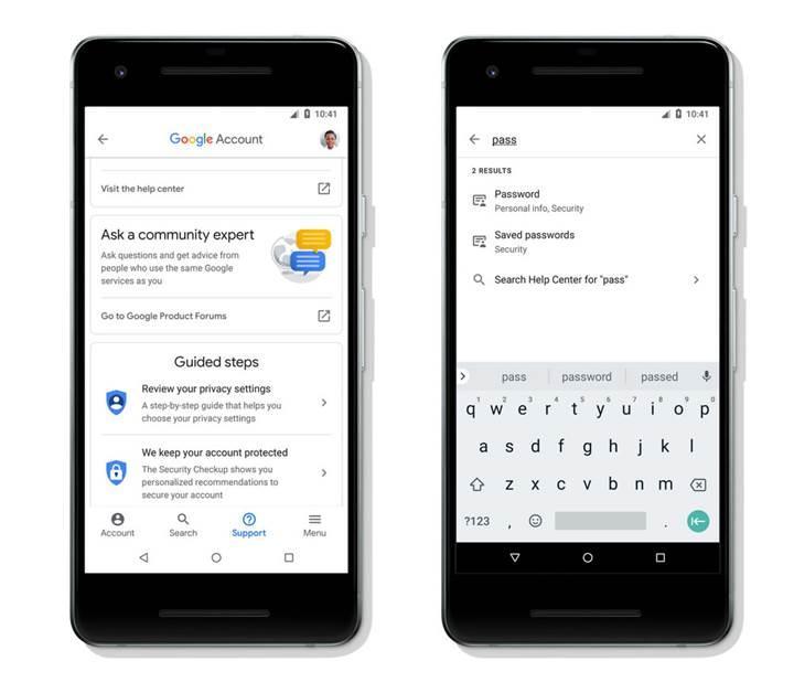 Google hesap ayarlarının gizlilik ve güvenlik kontrolü seçenekleri genişletildi