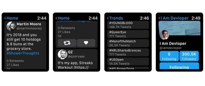Twitter, Chirp uygulaması ile Apple Watch'a geri döndü