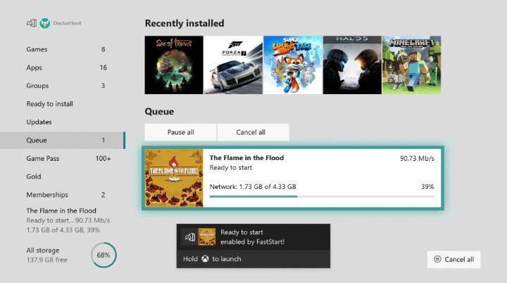Xbox One'ın yeni güncellemesi ile oyunlar tamamen indirilmeden de oynanabilecek