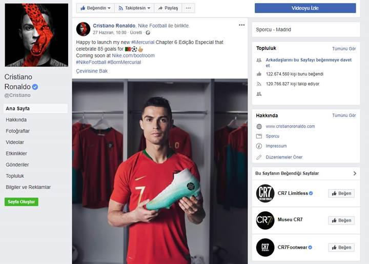 Facebook, reality şov yapması için Ronaldo'ya 10 milyon dolar teklif etti