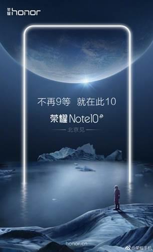 Honor Note 10 doğrulandı