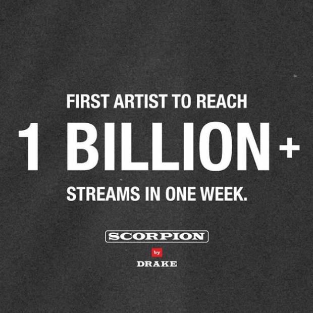 Drake yeni albümü ile tarihe geçti