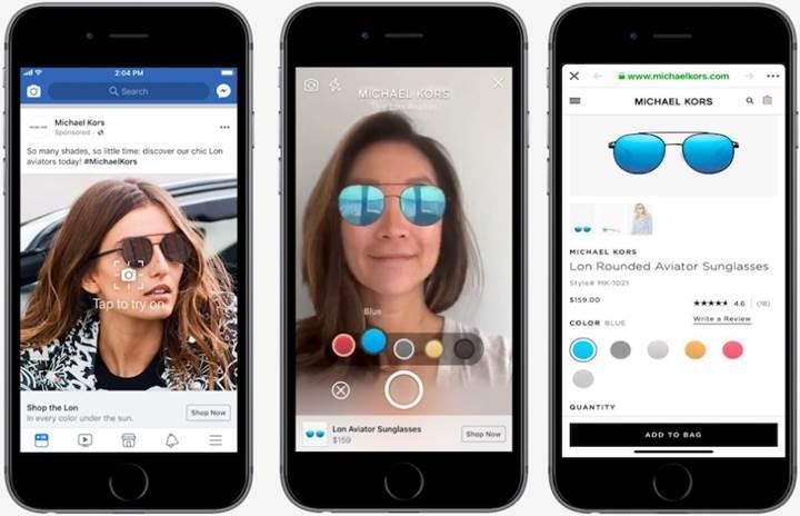 Facebook, alışveriş modelini değiştirecek artırılmış gerçeklik reklamlarını test ediyor