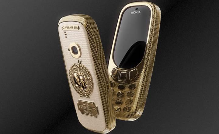 Putin ve Trump görüşmesi anısına altın kaplama Nokia 3310