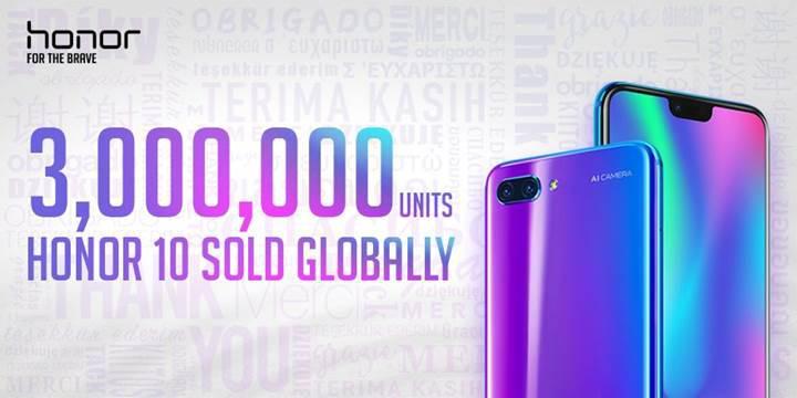 Honor 10 satışları dünya genelinde 3 milyonu geçti