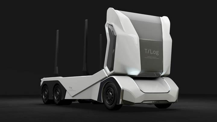 Tomruk taşımak için sürücüsüz kamyon geliştirildi