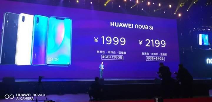 Huawei'nin bütçe dostu telefonu Nova 3i resmen tanıtıldı