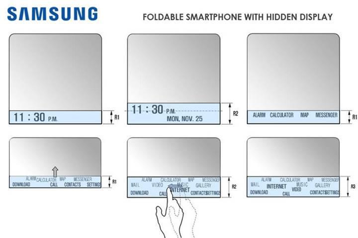 """Samsung'un katlanabilir telefonu Galaxy X ikinci bir """"gizli"""" ekranla gelebilir!"""