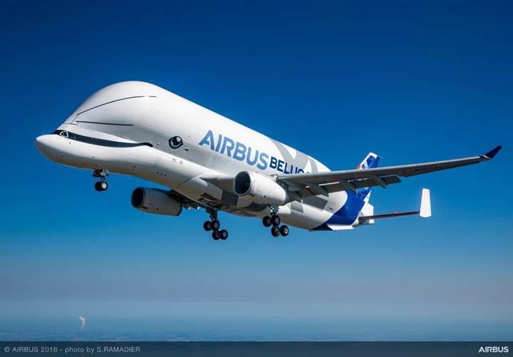 Airbus'ın uçan balinası BelugaXL, ilk uçuşunu başarıyla gerçekleştirdi