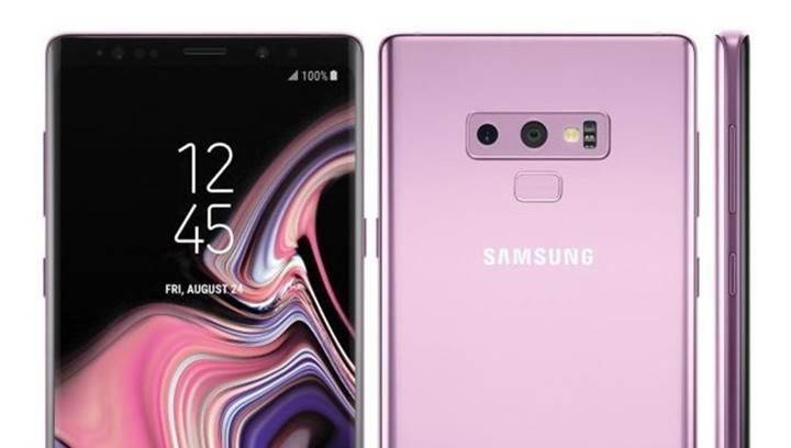 Samsung Galaxy Note 9'un lila renginden görseller internete sızdırıldı!