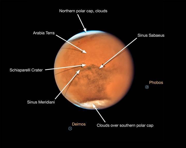 Hubble'dan büyüleyici Mars ve Satürn fotoğrafları