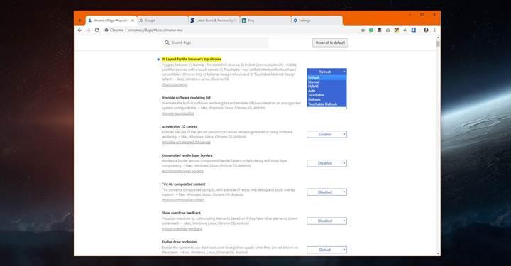 Google Chrome'un yeni materyal tasarımlı arayüzüne nasıl geçilir?