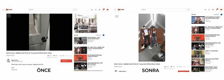 Youtube, artık farklı en boy oranına sahip videolarda siyah çerçeve göstermeyecek