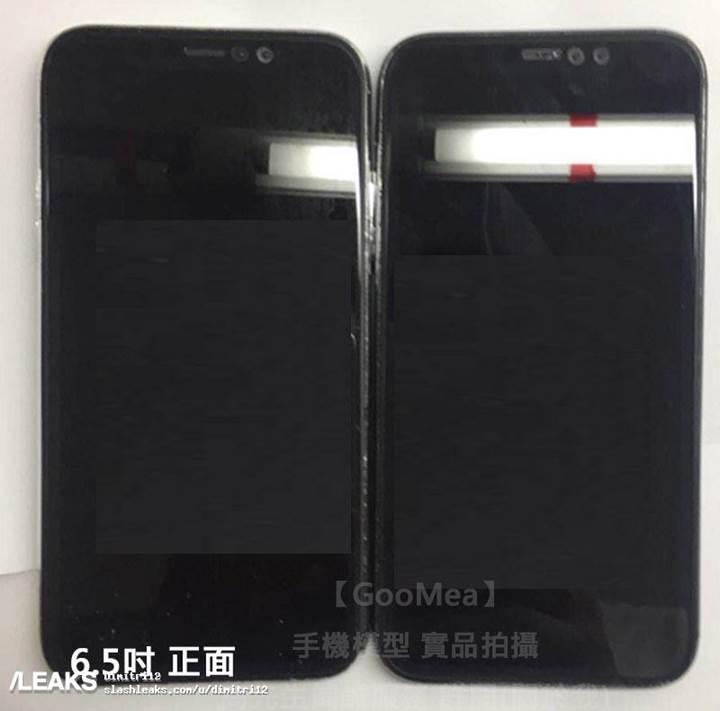 6.1 ve 6.5 inç ekranlı iPhone modelleri yan yana görüntülendi! 4 kameralı iPhone geliyor!