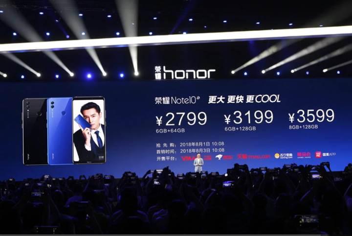 Honor Note 10 tanıtıldı! İşte özellikleri ve fiyatı