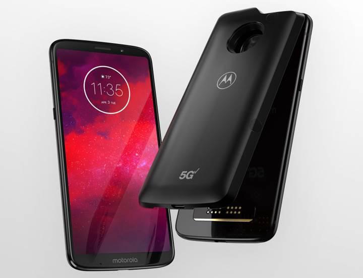 Motorola isteğe bağlı 5G desteği sunabilen Moto Z3'ü resmen tanıttı
