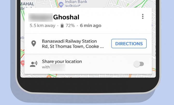 Google Haritalar'ın konum paylaşma özelliği artık sevdiklerinize şarjınızın bittiğini söyleyebilecek