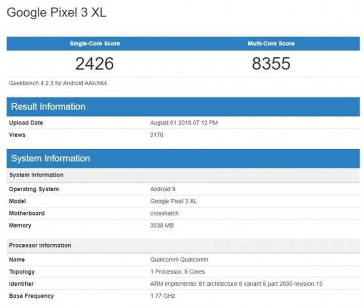 Google Pixel 3 XL performans testinde