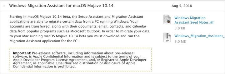 macOS Mojave ile Windows'tan Mac'e geçmek daha kolay olacak